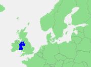 Den irlandske søs beliggenhed