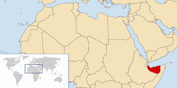 Location of the State of Somaliland.