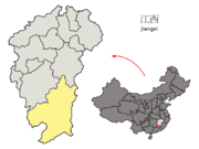 Location of Ganzhou Prefecture within Jiangxi (China).png