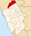 Location of the province Pallasca in Ancash.PNG