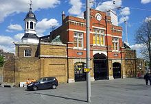 London, Woolwich, Beresford Sq, Royal Arsenal Gatehouse.jpg