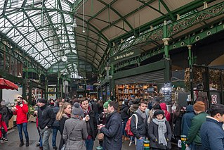 food market in Southwark, Central London, England