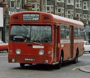 AEC Swift - Park Royal Vehicles bodied AEC Swift in Golders Green in April 1978