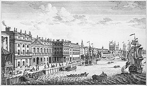 Bureaucracy - The 18th century Department of Excise developed a sophisticated bureaucracy. Pictured, the Custom House, London.