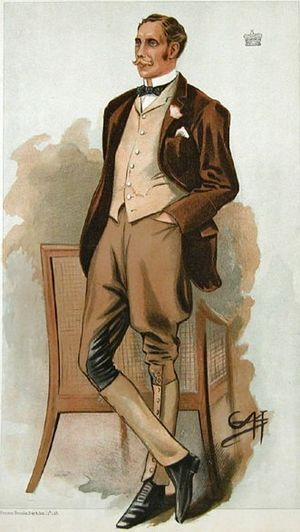Henry de Vere Vane, 9th Baron Barnard - Caricature of Lord Barnard in Vanity Fair, 15 Dec 1898