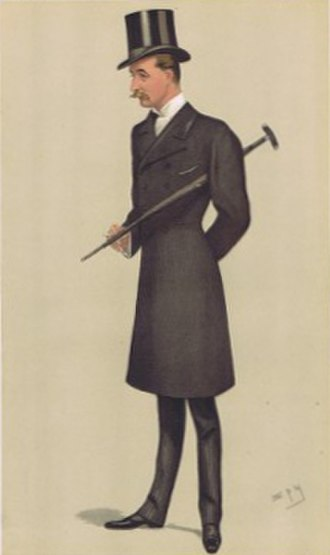 "Lord Walter Gordon-Lennox - ""Treasurer of the Household"". Gordon-Lennox as caricatured by Spy (Leslie Ward) in Vanity Fair, February 1892."