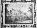 Louis Aickelin Neckarbrücke und Neckarfront Salzpapierabzug 1855.jpg