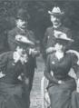 Louis et Juliette (Rostand) Mante, Pierre et Jeanne (Rostand) de Margerie.png
