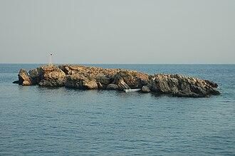 Loutro (island) - The rocky islet of Loutro.
