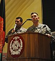 Lt. Gen. Caldwell addresses Afghan National Army (ANA) soldiers with the assistance of interpreter Spc. Mohamad Azimi, during an ANA award ceremony (4250729825).jpg
