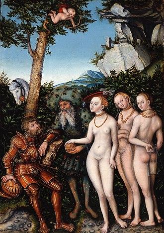 1530 in art - Image: Lucas Cranach the Elder Judgment of Paris