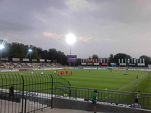 PFC Ludogorets Razgrad - Players warming up before a league fixture between Ludogorets and CSKA Sofia at the Ludogorets Arena.