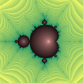 Lyapunov exponents of the Mandelbrot set (The mini-Mandelbrot) - Matlab.png