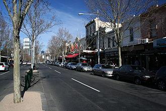 Lygon Street, Melbourne - Lygon Street, Carlton, looking south east