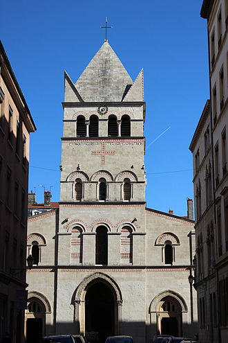Basilica of Saint-Martin d'Ainay - West front