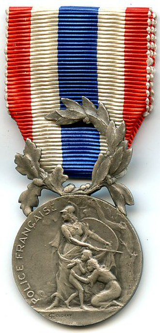 Honour medal of the National Police - Image: Médaille d'honneur de la Police nationale