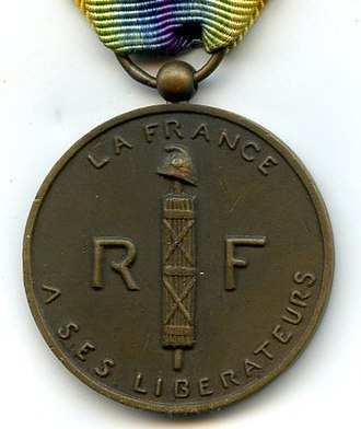 Medal of a liberated France - Medal of a liberated France (reverse)