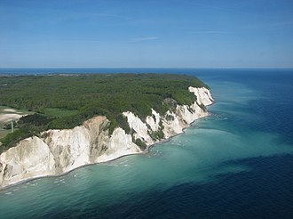 Møns Klint - Møns Klint from the air