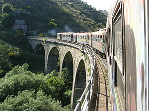 The Fiumarella viaduct