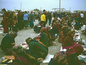 Mary, Turkmenistan - Market in Mary, 1992