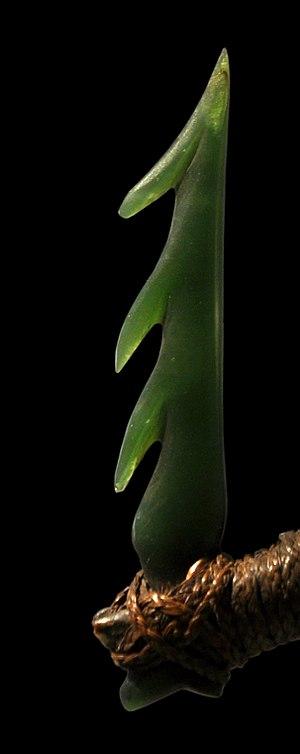 Pounamu - Pounamu matau (fishhook) barb