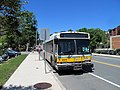 MBTA route 106 bus laying over in Melrose, June 2017.JPG