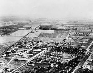 Sony Pictures Studios - Aerial shot of Goldwyn Studios c. 1922
