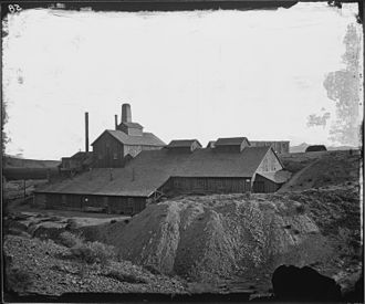 Hiko, Nevada - Mill of Hyko Silver Mining Co. in 1871