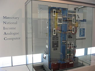 MONIAC - Moniac Computer, exhibited at the Reserve Bank of New Zealand