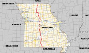 Missouri Route Wikipedia - Mo road map