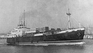 MV Peveril (1963) - MV Peveril departing Douglas, Isle of Man.
