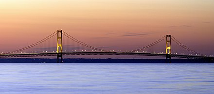 Mackinac Bridge Mackinac Bridge Sunset.jpg