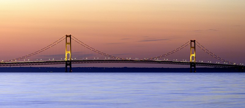 File:Mackinac Bridge Sunset.jpg