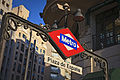 Madrid. España square. Subway sign. Spain (4080799492).jpg