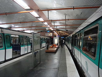 Mairie d'Ivry (Paris Métro) - Image: Mairie d'Ivry 9