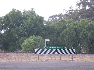 Mairjimmy, New South Wales - Intersection near former rail siding