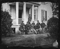 Maj. Gen. James H. Wilson and staff of nine. Capt. Louis Seibert, Capt. Perkins, Capt. Sayles, Maj. C.E. Hackley... - NARA - 524582.tif