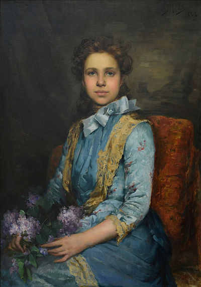 The portrait of Laura Sauvinet, a pupil of the artist, was considered by José Malhoa as his masterpiece. Museu José Malhoa, Caldas da Rainha, Portugal