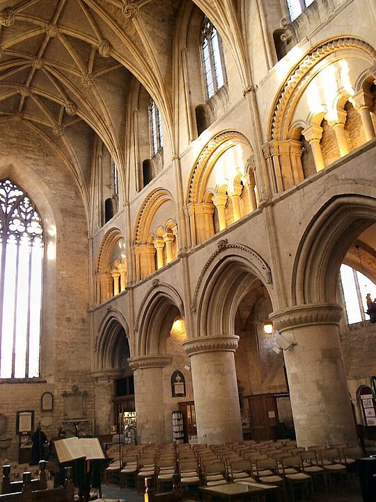Malmesbury Abbey England Has Hollow Core Columns Probably Filled With Rubble