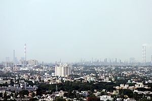 Manali, Chennai - Manali and Ennore as viewed from St Thomas mount