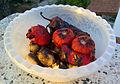 Mangalda soğan domates sarımsak biber - Barbequed vegetables.jpg