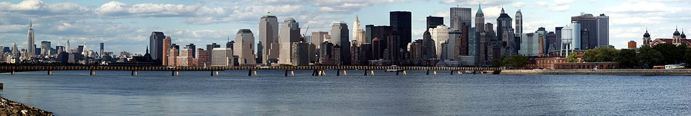 Lower Manhattan, as seen from Liberty State Park, New Jersey.