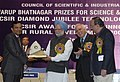 Manmohan Singh giving away the Council of Scientific & Industrial Research Diamond Jubilee Technology Award-2007 to Mahindra & Mahindra Limited for Development of Commercialization of Scorpio, in New Delhi.jpg