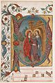 Manuscript Illumination with the Visitation in an Initial D, from a Choir Book MET sf31-134-3s1.jpg