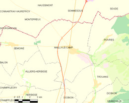 Mailly-le-Camp – Mappa