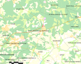 Map commune FR insee code 40261.png