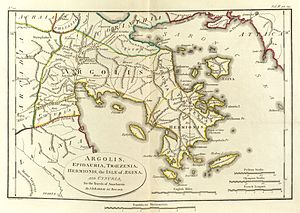 Argolis - Map of ancient Argolis