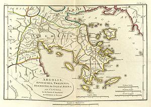 Argolis - Map of ancient Argolis