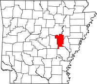 Map of Arkansas highlighting Prairie County