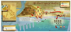 Anglo-Spanish War (1762–1763) - Map of the British conquest of Manila 1762